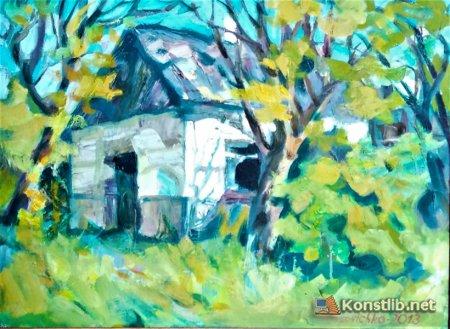 Картина Т.Маловічко «На подвір'ї Олекси Тихого»