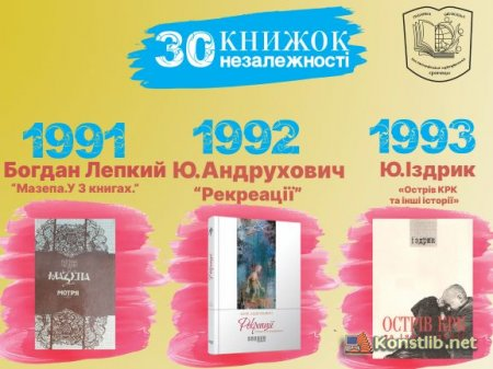 30 книжок незалежності